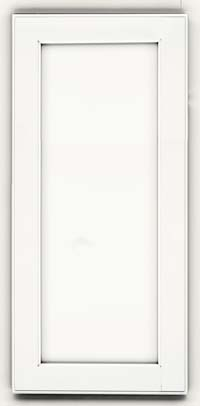 Square Recessed Panel - Veneer (AC2M) Maple in Dove White - Wall