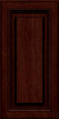 Square Raised Panel - Solid (HLC) Cherry in Cabernet w/Onyx Glaze - Wall