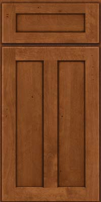 Square Recessed Panel - Veneer (NT) Birch in Antique Chocolate w/Mocha Glaze - Base