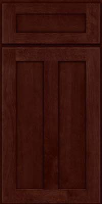Square Recessed Panel - Veneer (NT) Birch in Cabernet - Base