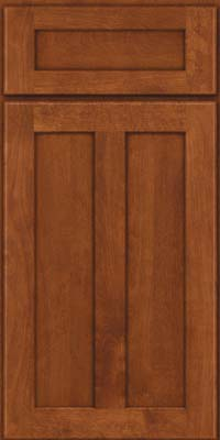 Square Recessed Panel - Veneer (NT) Birch in Chestnut - Base