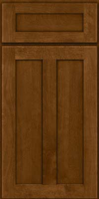 Square Recessed Panel - Veneer (NT) Birch in Chocolate - Base