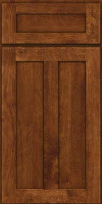 Square Recessed Panel - Veneer (NT) Birch in Cognac - Base