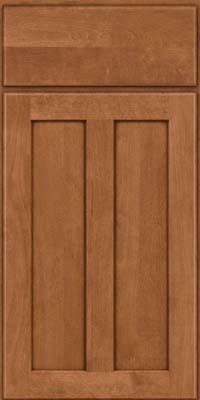 Square Recessed Panel - Veneer (HW) Birch in Ginger w/Sable Glaze - Base