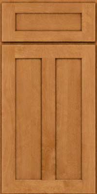 Square Recessed Panel - Veneer (HW) Birch in Honey Spice - Base