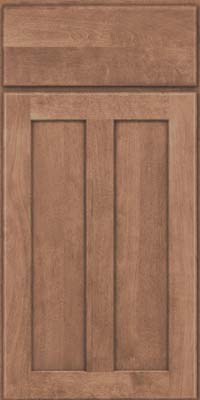 Square Recessed Panel - Veneer (HW) Birch in Husk Suede - Base