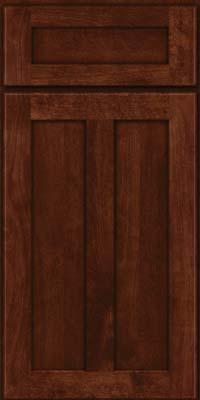 Square Recessed Panel - Veneer (NT) Birch in Kaffe - Base