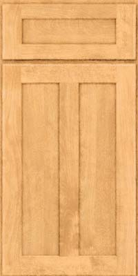 Square Recessed Panel - Veneer (HW) Birch in Natural - Base