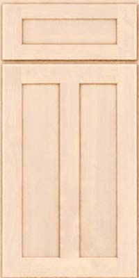 Square Recessed Panel - Veneer (HW) Birch in Parchment - Base