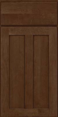 Square Recessed Panel - Veneer (HW) Birch in Saddle Suede - Base