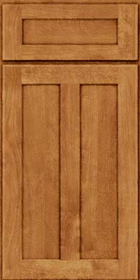 Square Recessed Panel - Veneer (NT) Birch in Toffee - Base