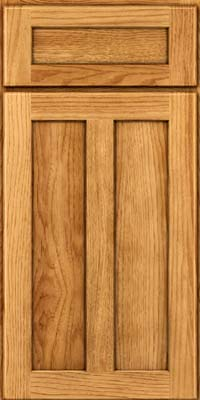 Square Recessed Panel - Veneer (AC5H) Hickory in Honey Spice - Base