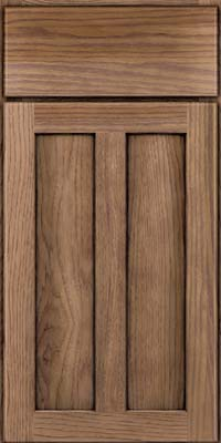 Square Recessed Panel - Veneer (AC5H) Hickory in Husk - Base