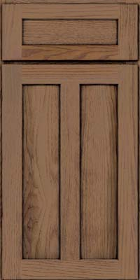 Square Recessed Panel - Veneer (AC5H) Hickory in Husk Suede - Base