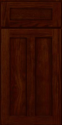 Square Recessed Panel - Veneer (AC5H) Hickory in Kaffe - Base