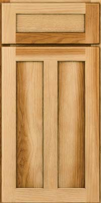 Square Recessed Panel - Veneer (AC5H) Hickory in Natural - Base