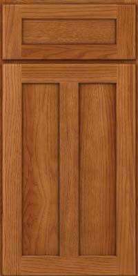 Square Recessed Panel - Veneer (AC5H) Hickory in Praline - Base