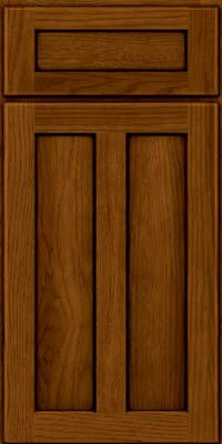 Square Recessed Panel - Veneer (AC5H) Hickory in Praline w/Onyx Glaze - Base