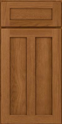 Square Recessed Panel - Veneer (AC5H) Hickory in Rye - Base