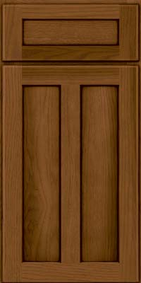 Square Recessed Panel - Veneer (AC5H) Hickory in Rye w/Sable Glaze - Base