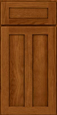 Square Recessed Panel - Veneer (AC5H) Hickory in Sunset - Base