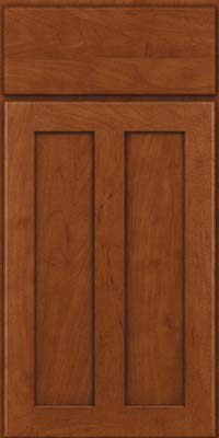 Square Recessed Panel - Veneer (WI) Maple in Chestnut - Base