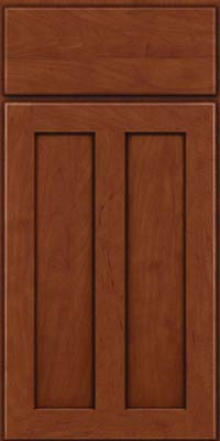 Square Recessed Panel - Veneer (WI) Maple in Chestnut w/Onyx Glaze - Base
