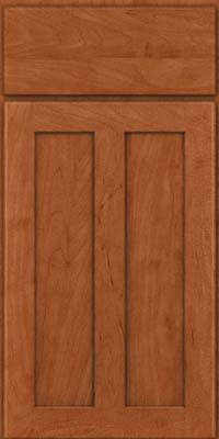Square Recessed Panel - Veneer (WI) Maple in Cinnamon - Base