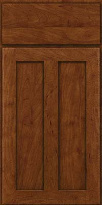 Square Recessed Panel - Veneer (WI) Maple in Cognac - Base