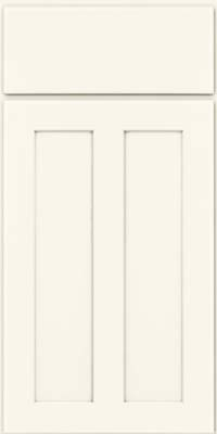 Square Recessed Panel - Veneer (WI) Maple in Dove White - Base