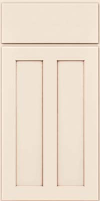 Square Recessed Panel - Veneer (WI) Maple in Dove White w/Cocoa Glaze - Base