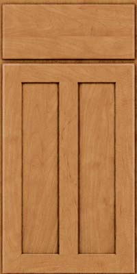 Square Recessed Panel - Veneer (WI) Maple in Ginger w/Sable Glaze - Base