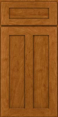 Square Recessed Panel - Veneer (WI) Maple in Golden Lager - Base