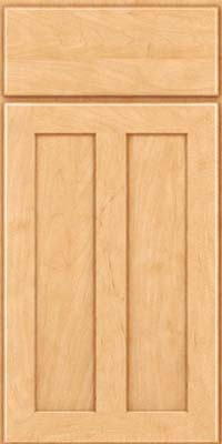 Square Recessed Panel - Veneer (WI) Maple in Honey Spice - Base