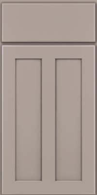 Square Recessed Panel - Veneer (WI) Maple in Pebble Grey - Base