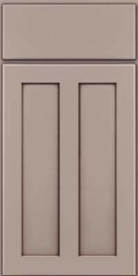 Square Recessed Panel - Veneer (WI) Maple in Pebble Grey w/ Cocoa Glaze - Base