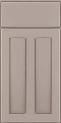 Square Recessed Panel - Veneer (WI) Maple in Pebble Grey w/ Coconut Glaze - Base