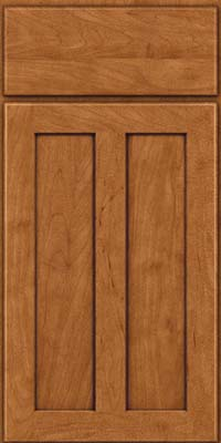Square Recessed Panel - Veneer (WI) Maple in Praline w/Onyx Glaze - Base