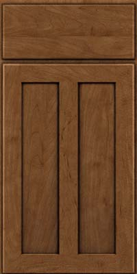 Square Recessed Panel - Veneer (WI) Maple in Rye w/Onyx Glaze - Base