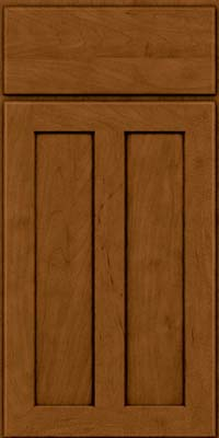 Square Recessed Panel - Veneer (WI) Maple in Rye w/Sable Glaze - Base