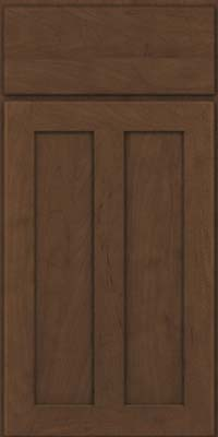 Square Recessed Panel - Veneer (WI) Maple in Saddle - Base