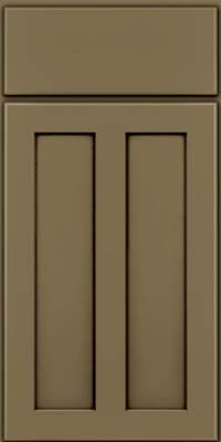 Square Recessed Panel - Veneer (WI) Maple in Sage w/Cocoa Glaze - Base