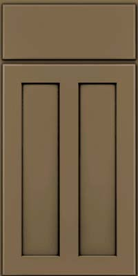 Square Recessed Panel - Veneer (WI) Maple in Sage w/Onyx Glaze - Base