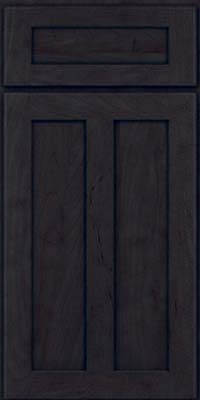 Square Recessed Panel - Veneer (WI) Maple in Slate - Base