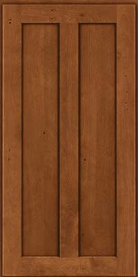 Square Recessed Panel - Veneer (NT) Birch in Antique Chocolate w/Mocha Glaze - Wall