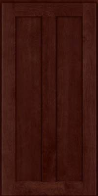 Square Recessed Panel - Veneer (NT) Birch in Cabernet - Wall