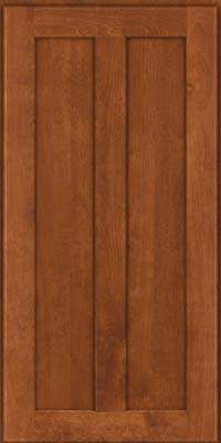 Square Recessed Panel - Veneer (NT) Birch in Chestnut - Wall