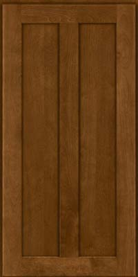 Square Recessed Panel - Veneer (NT) Birch in Chocolate - Wall