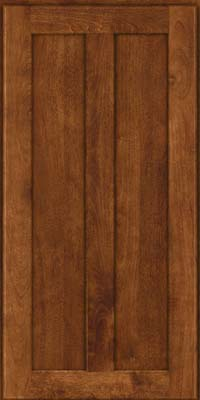 Square Recessed Panel - Veneer (NT) Birch in Cognac - Wall
