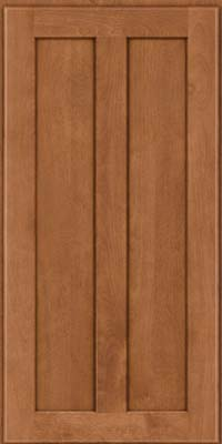 Square Recessed Panel - Veneer (HW) Birch in Ginger w/Sable Glaze - Wall